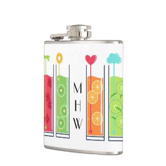 Summer Juices custom monogram flask