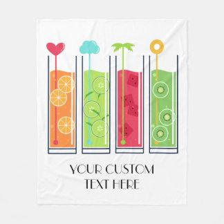Summer Juices custom text fleece blankets