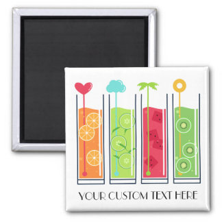 Summer Juices custom text magnet