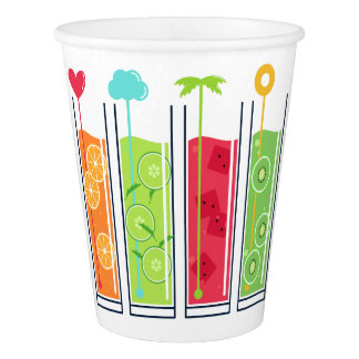 Summer Juices custom text paper cups