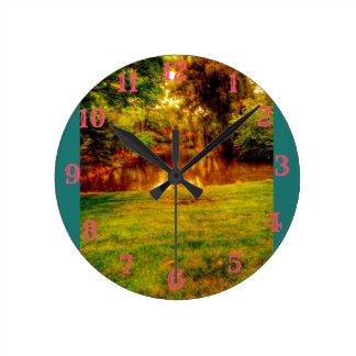 Summer Jungle Round Clock