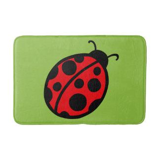 Summer Kids Cute Red Ladybug Bathroom Bath Mat Rug