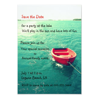"Summer Lakeside Party/Celebration Custom Invites 5"" X 7"" Invitation Card"