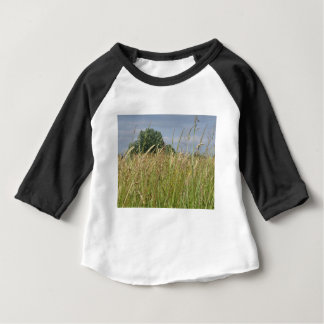 Summer landscape of wild field in the countryside baby T-Shirt