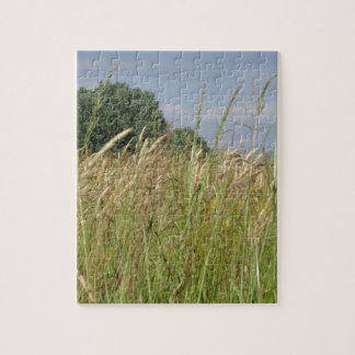 Summer landscape of wild field in the countryside jigsaw puzzle
