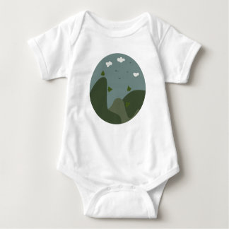 Summer landscape personalized baby bodysuit