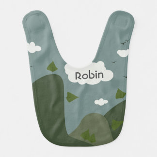 Summer landscape personalized bib