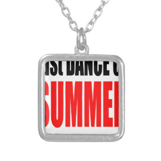 SUMMER LAST DANCE night couple invitation remember Silver Plated Necklace