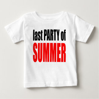 SUMMER LAST party night couple invitation remember Baby T-Shirt