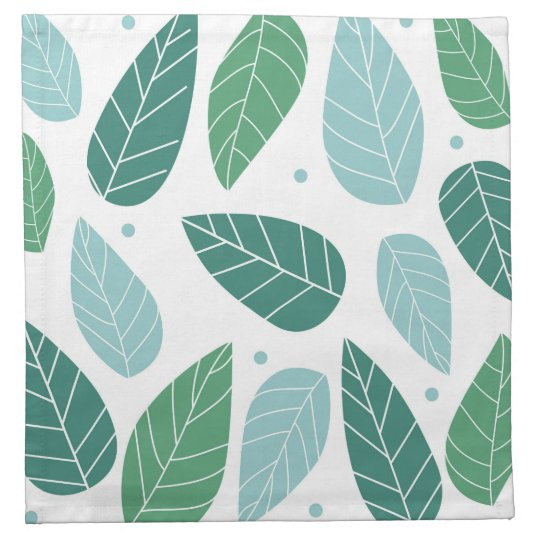 Summer Leaves Cloth Napkin