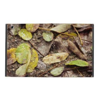 Summer leaves under the raindrops iPad folio case
