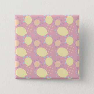 Summer Lemon Blast 2 Inch Square Button