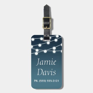 Summer Lights Evening Blue Luggage Tag