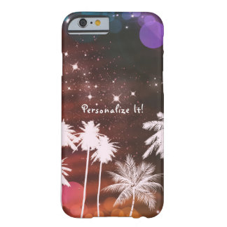 Summer Lights Sparkle & White Palm Trees Tropical Barely There iPhone 6 Case