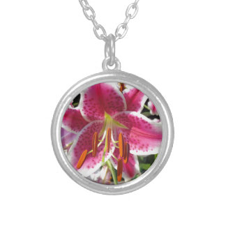 Summer Lily Silver Plated Necklace