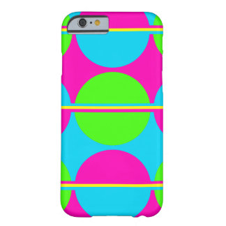 Summer Lime Green Hot Pink Teal Circles Stripes Barely There iPhone 6 Case