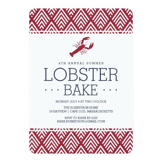 Summer Lobster Bake Party Card