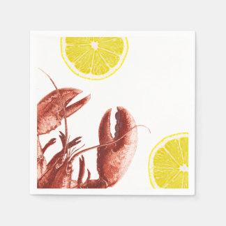 Summer Lobster Boil Party Paper Napkin