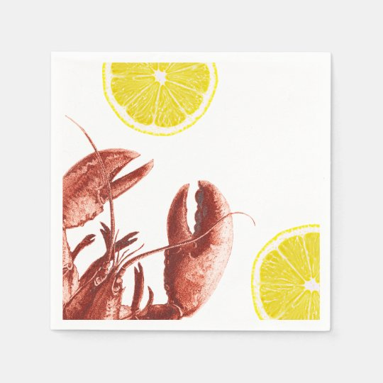 Summer Lobster Boil Party Paper Napkin