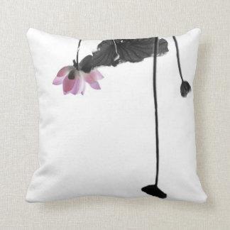 Summer Lotus Zen Photography Throw Pillow