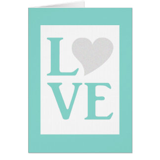 Summer Love Blue And White Wedding Party Note Card