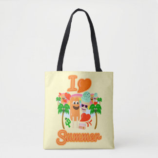 Summer Love Slogan Tote Bag