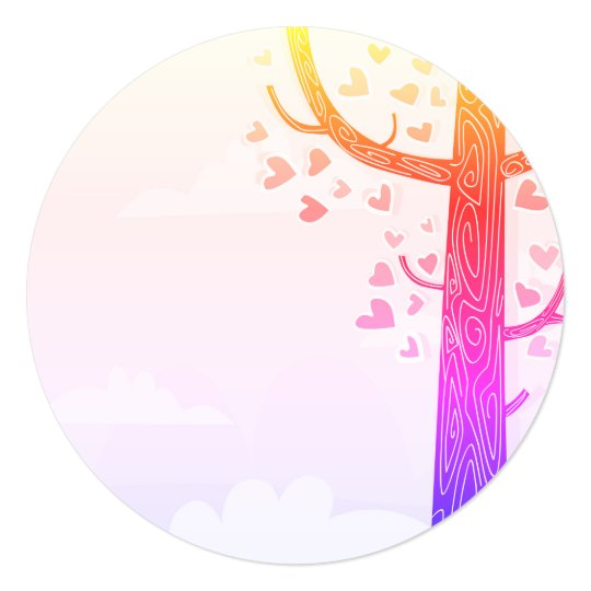 SUMMER LOVE TREE Wedding Invitation