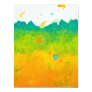 Summer Love whimsical art wedding blank cards Personalized Invitation