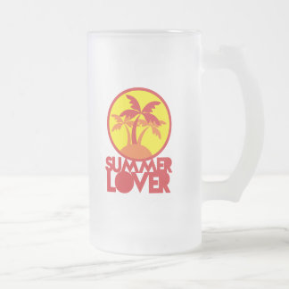 SUMMER LOVER with palm trees Coffee Mugs