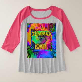 Summer Lovin' - Women's +Plus Raglan Tshirt