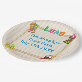 Summer Luau Paper Plates 9 Inch Paper Plate