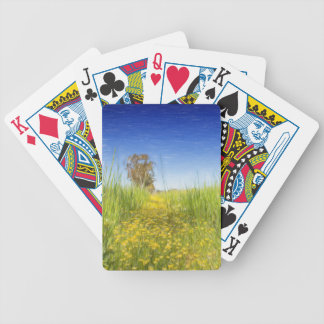 Summer Meadow Bicycle Playing Cards