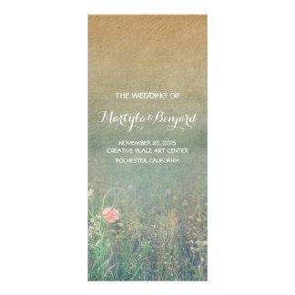 summer meadow rustic romantic wedding programs