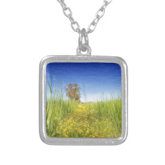 Summer Meadow Silver Plated Necklace