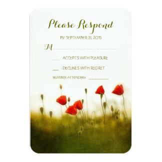 "Summer meadow wedding rsvp cards 3.5"" x 5"" invitation card"