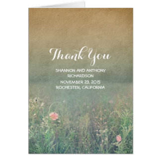 summer meadow wildflowers thank you cards