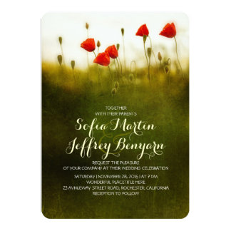 Summer meadow wildflowers wedding invites