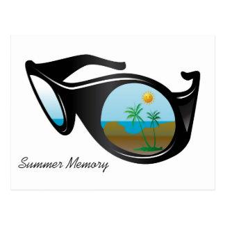 summer memory postcard