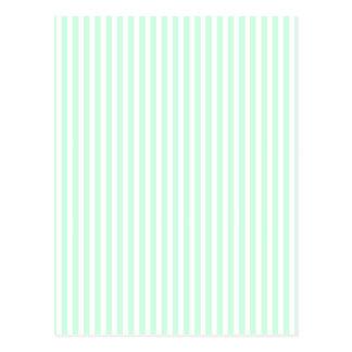 Summer Mint Pale Green Mint & White Stripe Postcard