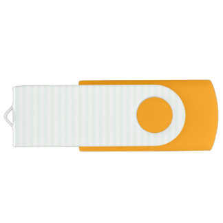 Summer Mint Pale Green Mint & White Stripe Swivel USB 2.0 Flash Drive