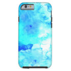 Summer modern blue sea hand painted watercolor tough iPhone 6 case