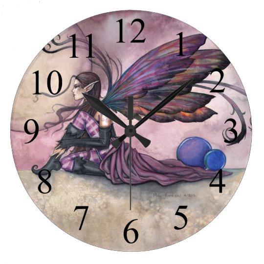 Summer Moon Fairy Fantasy Art Wall Clock