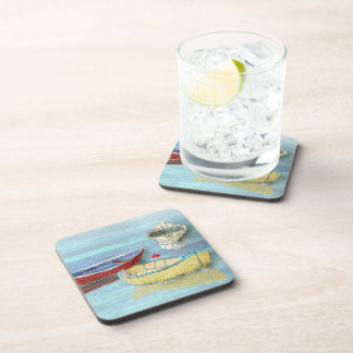 Summer Morning Boats at Rest Coasters
