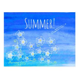 Summer Morning glory post card