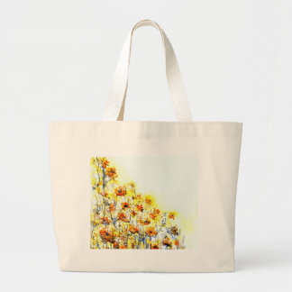Summer Morning White Print Large Tote Bag