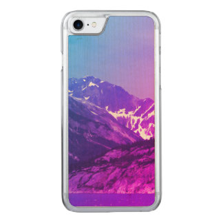Summer Mountains Wood Phone Case