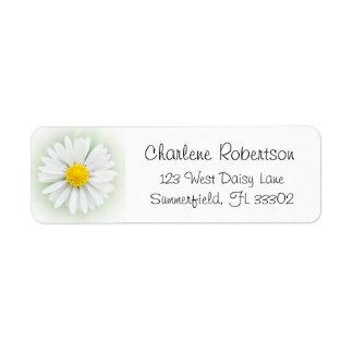 Summer Nature Garden Daisy Flower Return Address Label