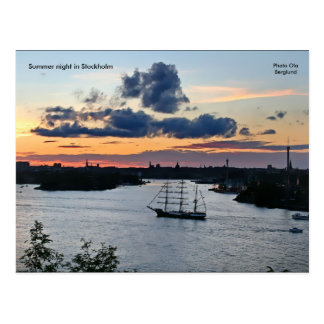 Summer night in Stockholm, Phot... Postcard