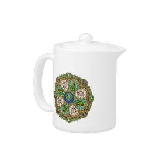 Summer Nouveau Tea Pot