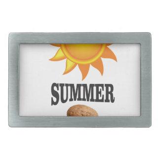 Summer nut in sun belt buckle